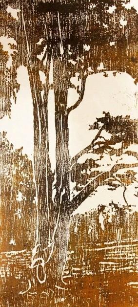 Bois grand arbre - Gravure sur bois de Caroline Lesgourgues