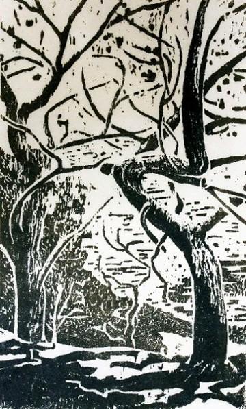 Gravure sur Bois de Caroline Lesgourgues