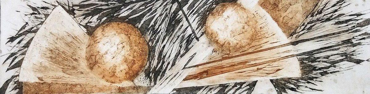 "Gravure ""Terra incognita"" de Caroline Lesgourgues"
